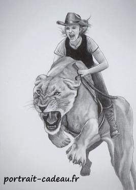 Portrait dessin - Lionnes
