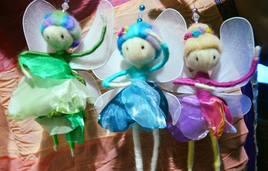 Petites fées en laine