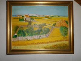 Inspirée par La Crau de van Gogh