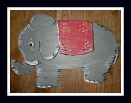 Eléphant sur ardoise