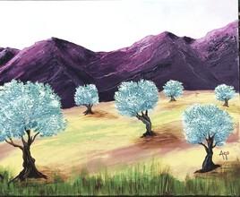 Le champs d'oliviers