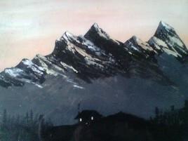 Petit matin montagneux