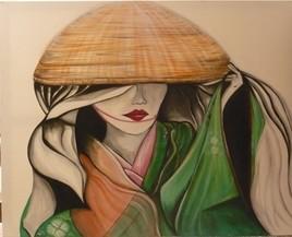Japonaise au chapeau