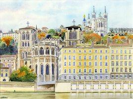 2020-06 Lyon Quai de Saone Primatiale Saint Jean