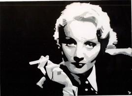 """Portrait d'actrice """" Marlene Dietrich """""""