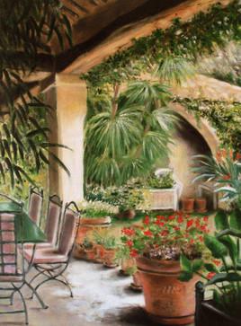 Le jardin de Gloria (huile sur toile)