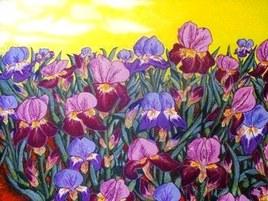 Les Iris pourpres