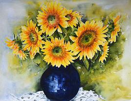 Le vase de tournesols