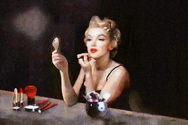 Portrait  Marilyn Monroe au maquillage