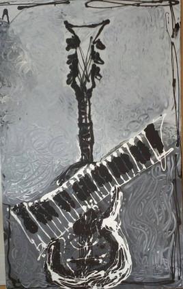 Peinture Piano-guitare
