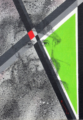 """Vide atelier - Peinture hommage - peinture aux pochoirs - """"Merci l'Abbé - 1 -"""""""