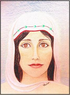 Portrait Jeune fille étonnée / Drawing Portrait of a surprised girl