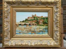 テーブル・オブ・ホイヤーベジエール・ラ・シタデル Oil painting Béziers the citadel