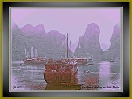 La Baie d'Halong au petit matin (Viet-Naml 2008)