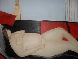 Peinture me femme nue