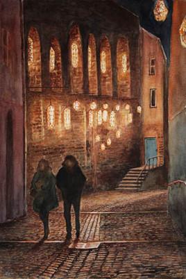 Fêtes des Lumières dans le Gourguillon (Lyon)