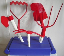 Plate-bande d'outils agricoles républicains