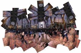 Photo artistique et panoramique à acheter illustrantla consécration de la Sainte Chapelle à Paris
