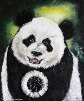 Giant panda dreamcatcher