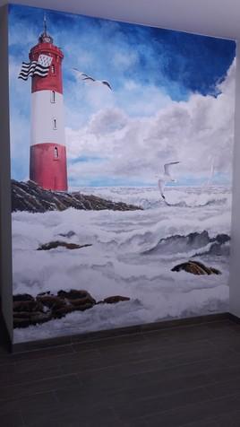Mon phare breton - peinture murale