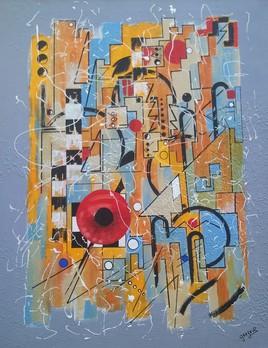 Clin d'Oeil contemporain à Kandinsky composition I