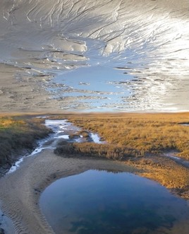 Photomontage bassin d'Arcachon/océan