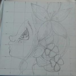 La jeune fille crayonnage... 2