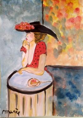 Chapeau noir et tarte aux fraises