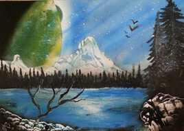 Paysage à la montagne