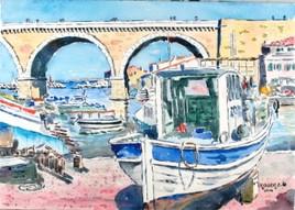 Le Port des Auffes à Marseille