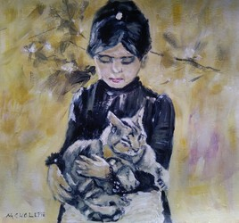 La dame et son chat