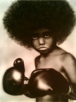 Afro- beating- boy