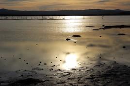 Couché de soleil sur la lagune
