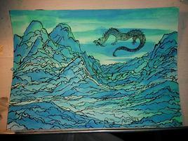 Montagnes et dragon