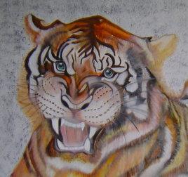 Tête de tigre (détail)