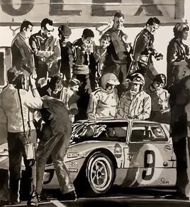 Ford GT 40 stand au 24H du Mans 1965