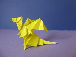 Dragon en origami