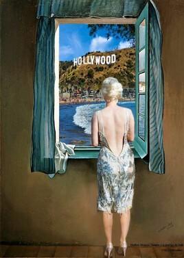 Marilyn revisite la jeune femme à la fenêtre de Dali..
