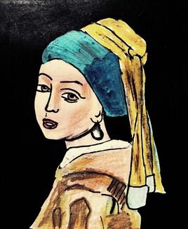 """""""La jeune femme à la perle de Johannes  Vermeer""""  Ds a"""