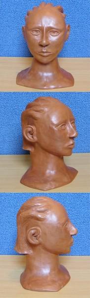 Sculpture en argile, vernis a la gomme-laque ( sculpture numéro 3 )