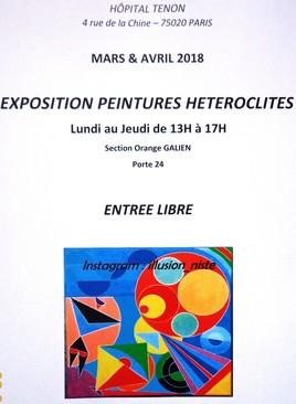 Exposition Peintures Hétéroclites - PARIS - 75020 - ENTRÉE LIBRE