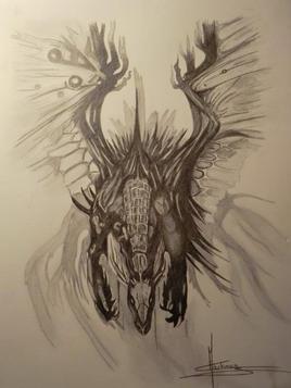 Dragon fumant