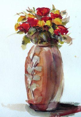 Peinture Le pot aux roses