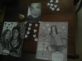 Michael Jackson avec mes amis danseurs.