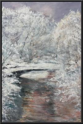 Rivière enneigée