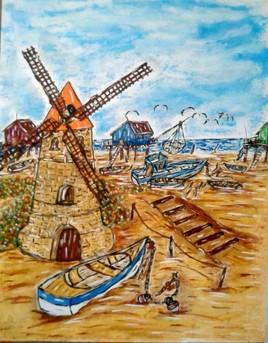 Moulin bord de mer