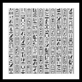 Hiéroglyphes égyptiens 2