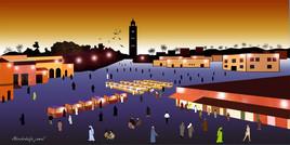 Place de Jamaa el Fna -Marrakech-Maroc