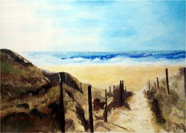 Chemin dans la dune