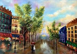 Lover Couple in Paris